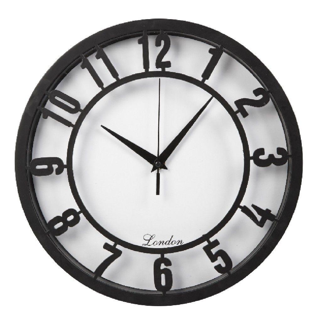 Horloge Chiffres Noirs Horloge Decoration Murale Decoration Gifi Parement Mural Decoration Murale Pas Cher Decoration Murale
