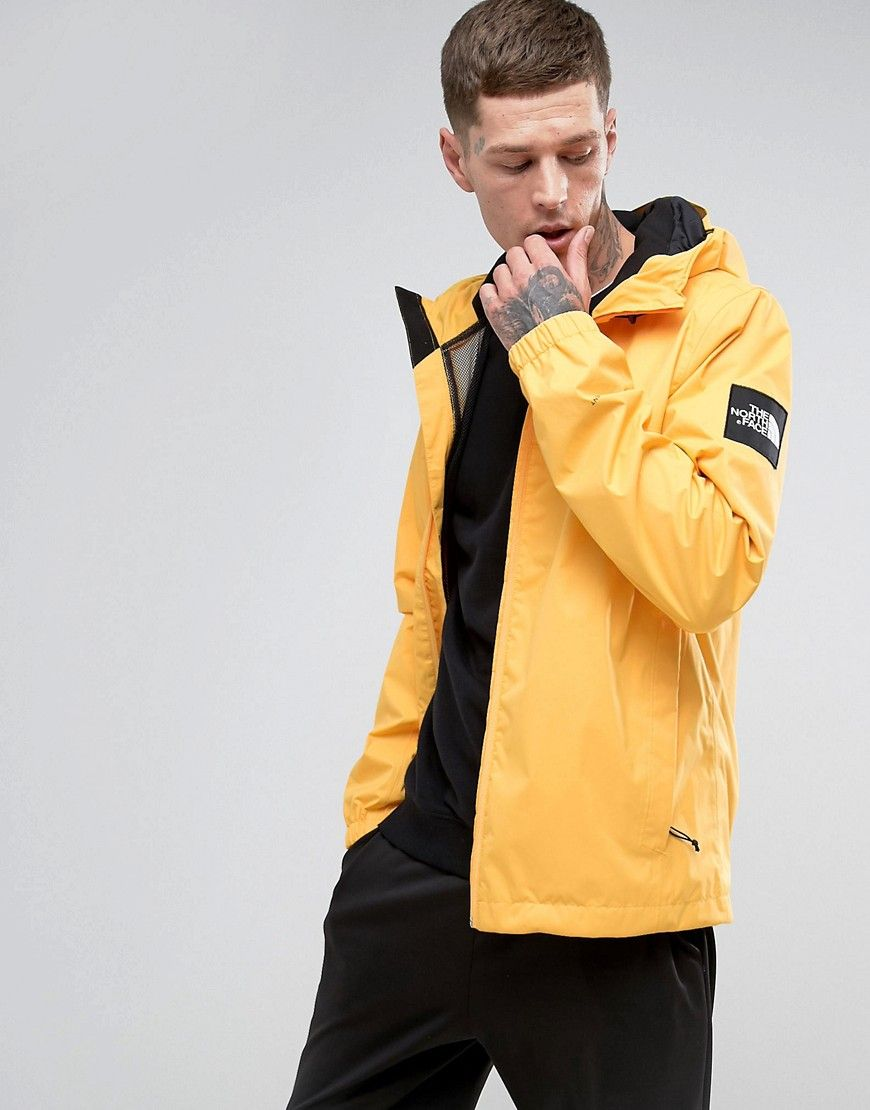 The North Face Mountain Q Jacket Hooded In Yellow Yellow Thenorthface Cloth North Face Jacket Jackets Yellow Windbreaker [ 1110 x 870 Pixel ]