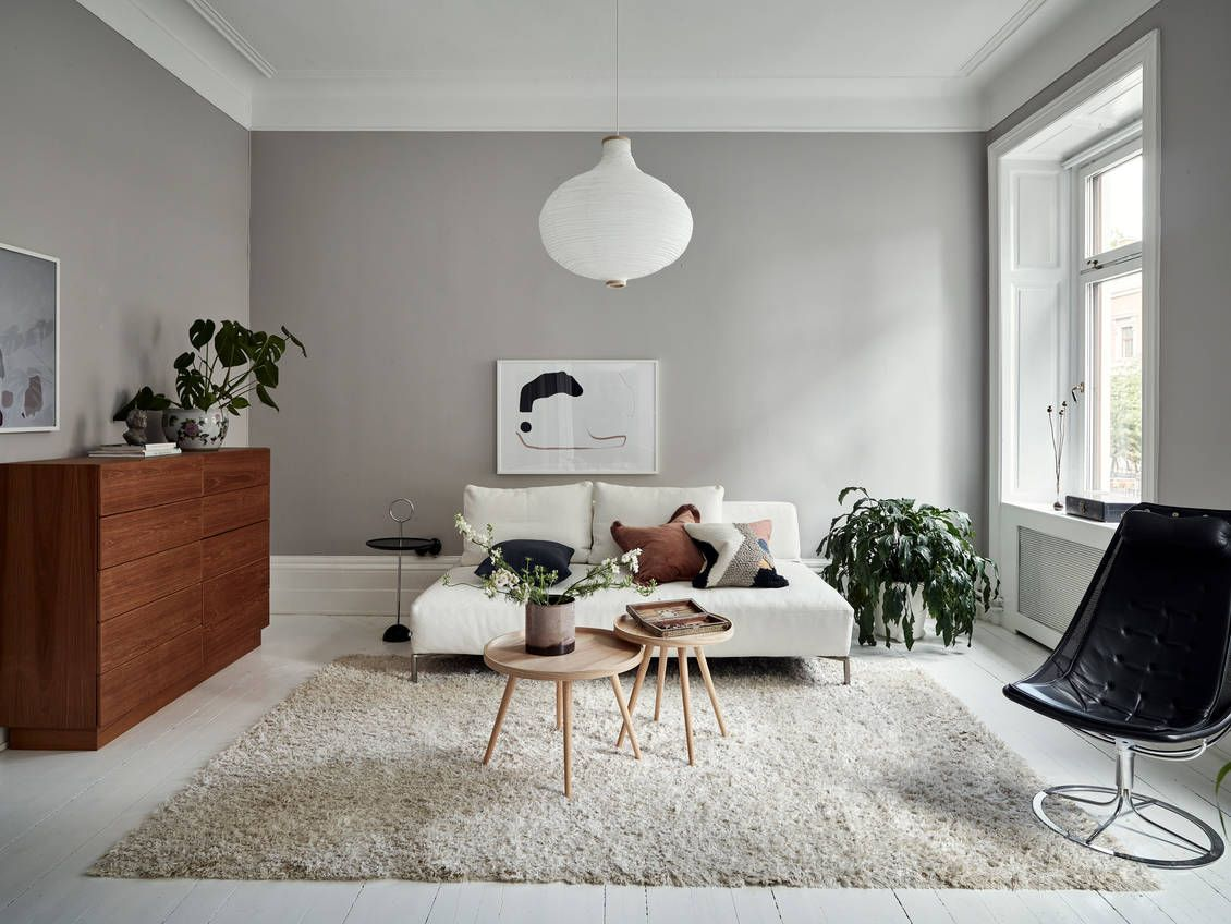 Cozy Home On Two Levels Coco Lapine Designcoco Lapine Design In 2020 Long Living Room Living Room Wall Color Simple Living Room