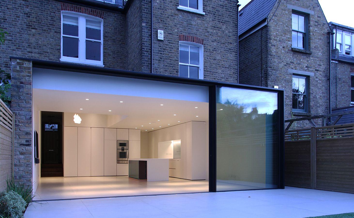 Rear Glass Extension , London, Clapham Common, Slimline Sliding doors, Panoramah, LBMVarchitects