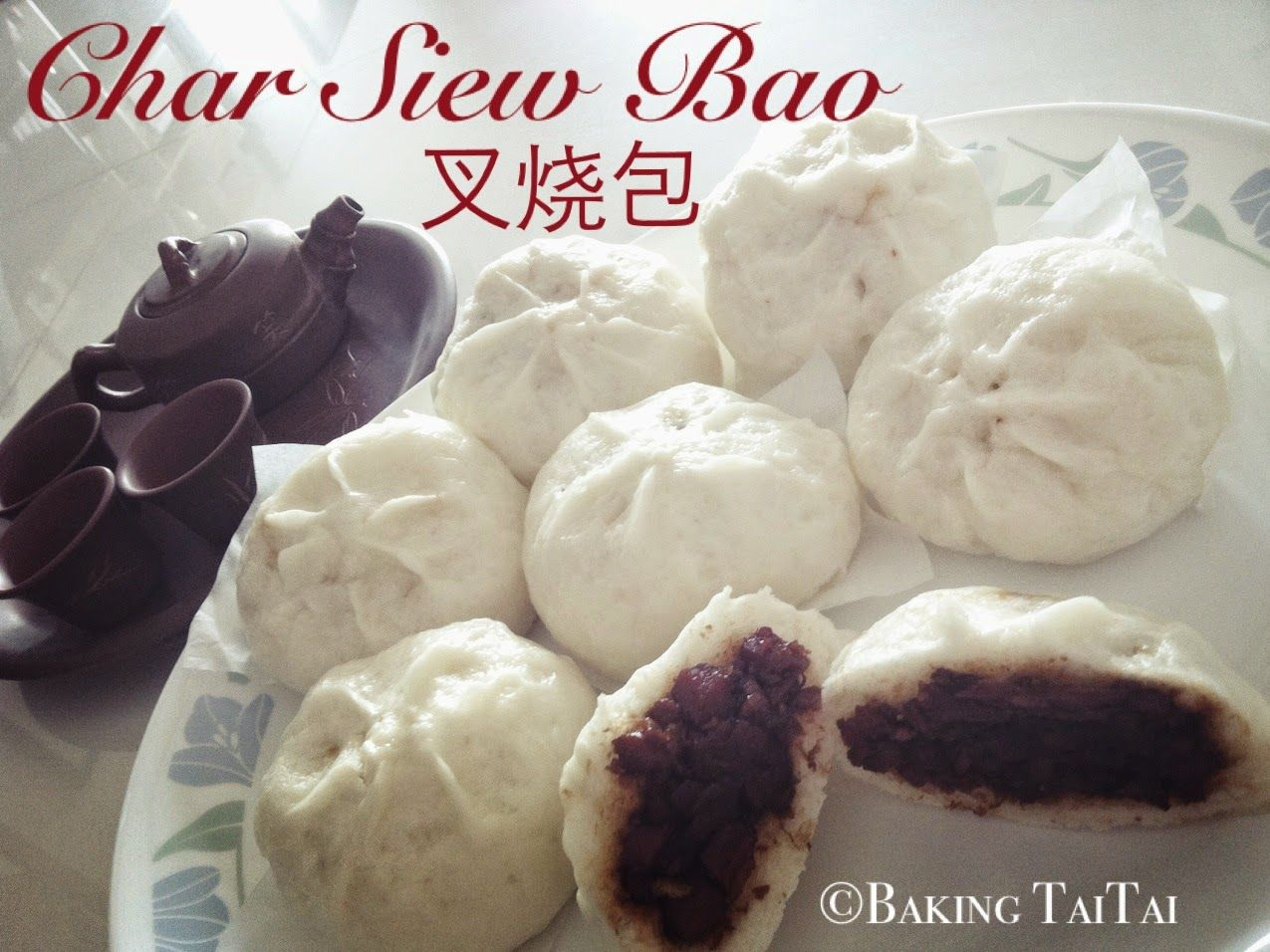 Baking Taitai 烘焙太太: Red bean paste steam buns & Char Siew Bao ...