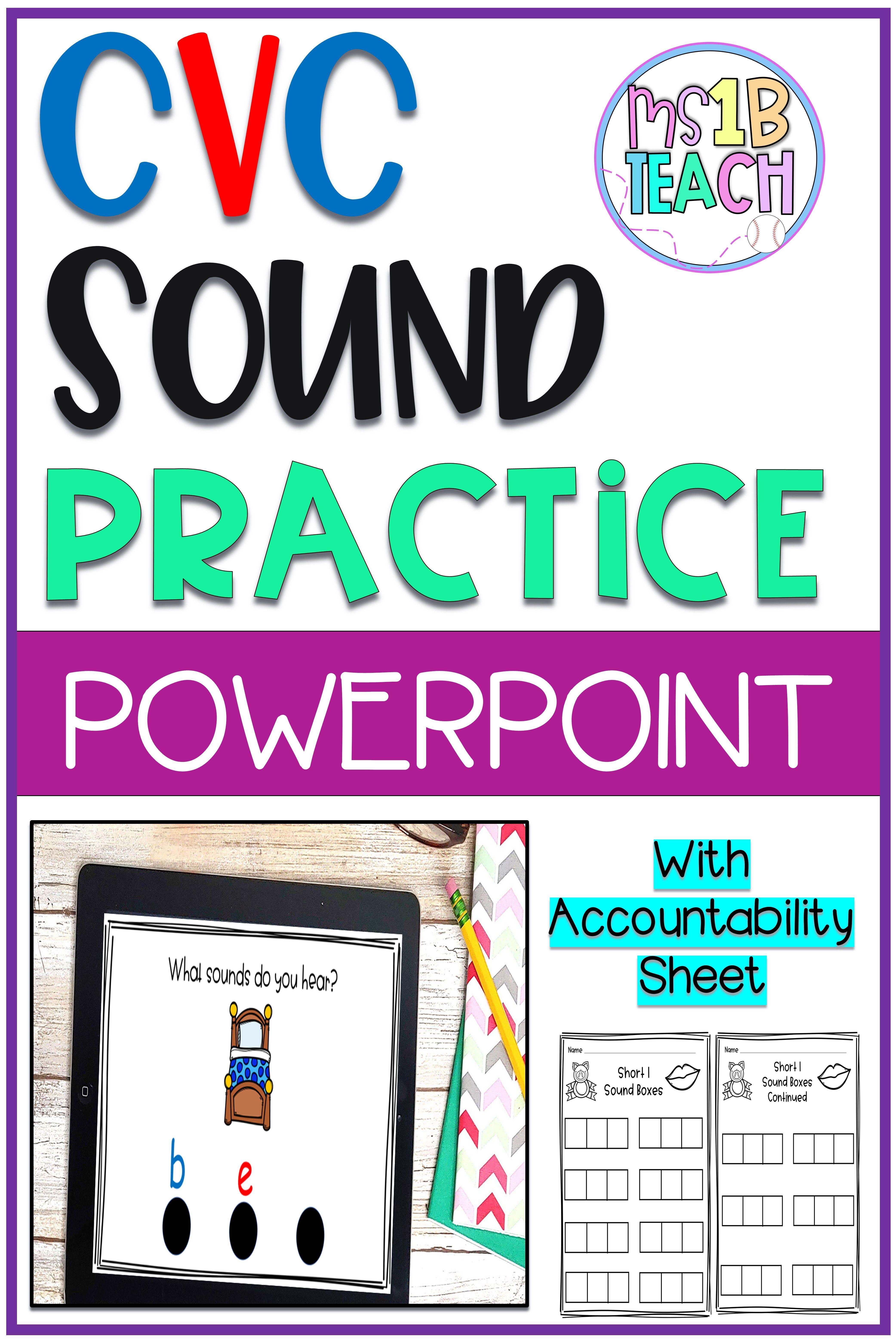 Cvc Practice Activity With Powerpoint