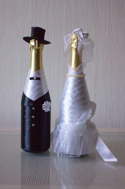 Свадебное шампанское ручной работы