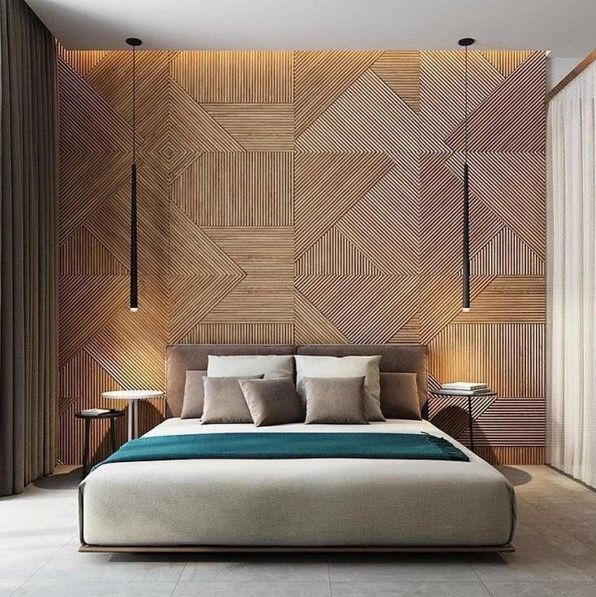 Love this geometric wall art / wall cladding! Give us a quick call