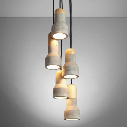 Hängeleuchten Modern puristische hängeleuchte aus holz und stein ein individueller
