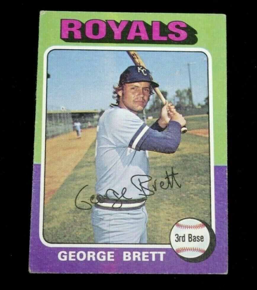 VTG 1975 Topps 228 Brett RC Royals Rookie A