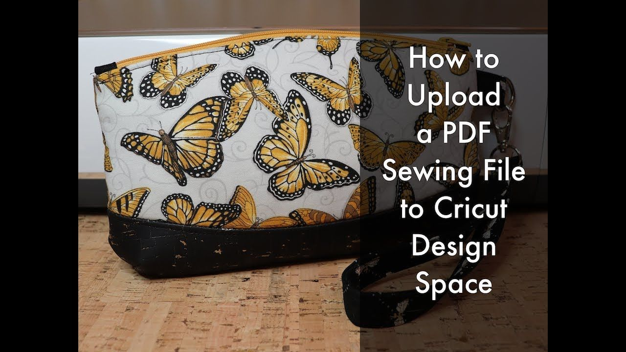 How to Upload a PDF Sewing Pattern to Cricut Design Space on