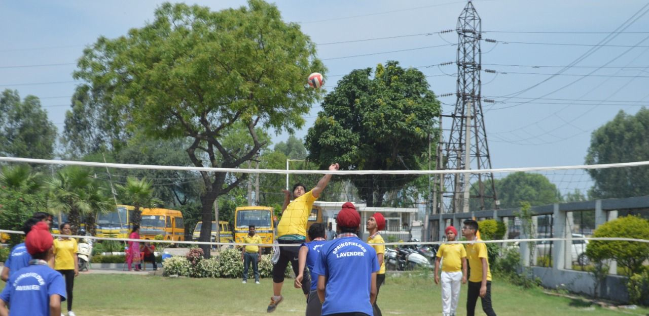 Springfield Public School Organized An Inter House Volleyball Match In Its School Premises The Boy Best Boarding Schools How To Memorize Things Public School