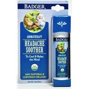Badger Headache Soother Stick Natural Headache Relief