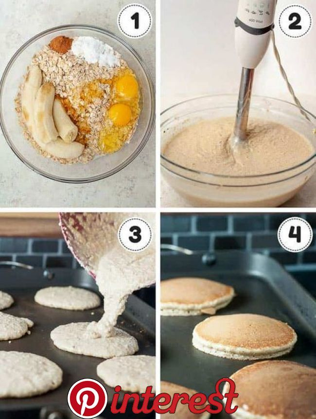 Fluffy Flourless Banana Pancakes -   11 fitness Videos recetas ideas