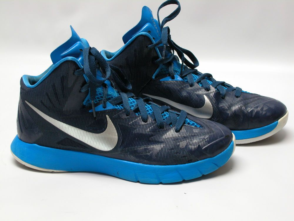 dbf0a4c4c NIKE Lunarlon Hyperquickness Men s Basketball Shoes Size 8.5 Blue Sneakers   Nike  BasketballShoes