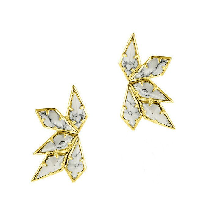 Luv AJ Marble Wing Earrings | www.styledbyNOIR.com