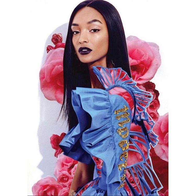 "29.5 mil curtidas, 133 comentários - Jourdan Dunn (@jourdandunn) no Instagram: ""🌺💙🌺💙🌺💙🌺💙 @fashioncanada cover out now 💋  Photography by @maxabadian  Artwork by @bymaxwell Styled…"""