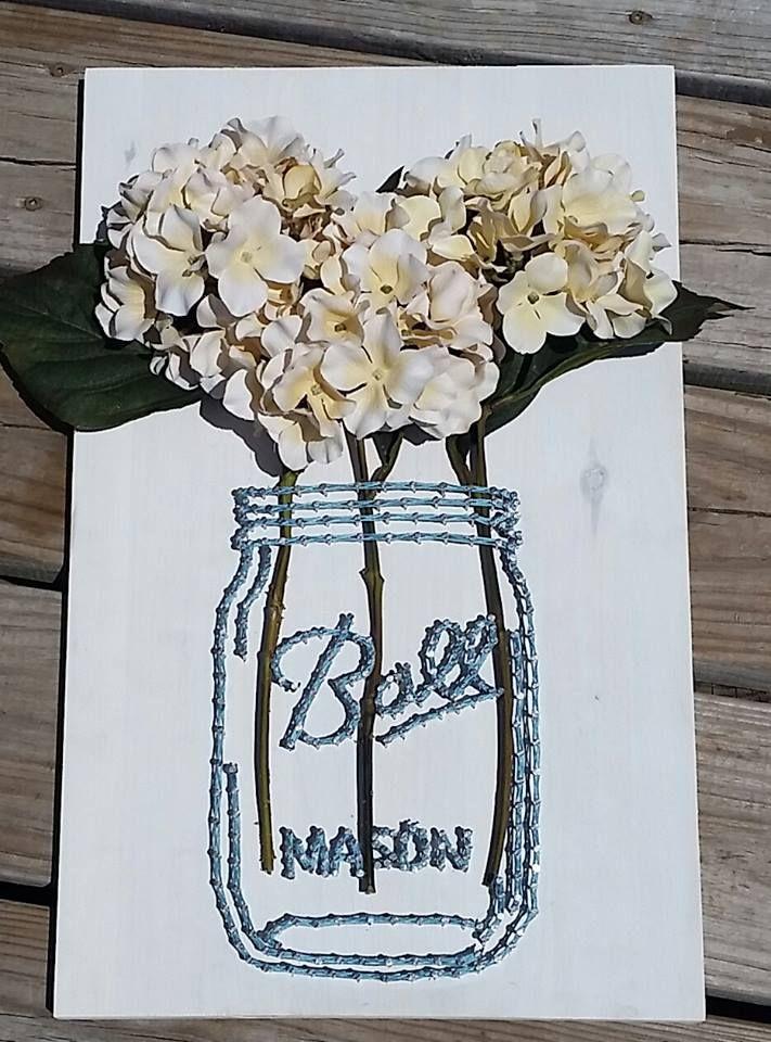 Mason Jar String Art By Strung From The Heart Diy String Push