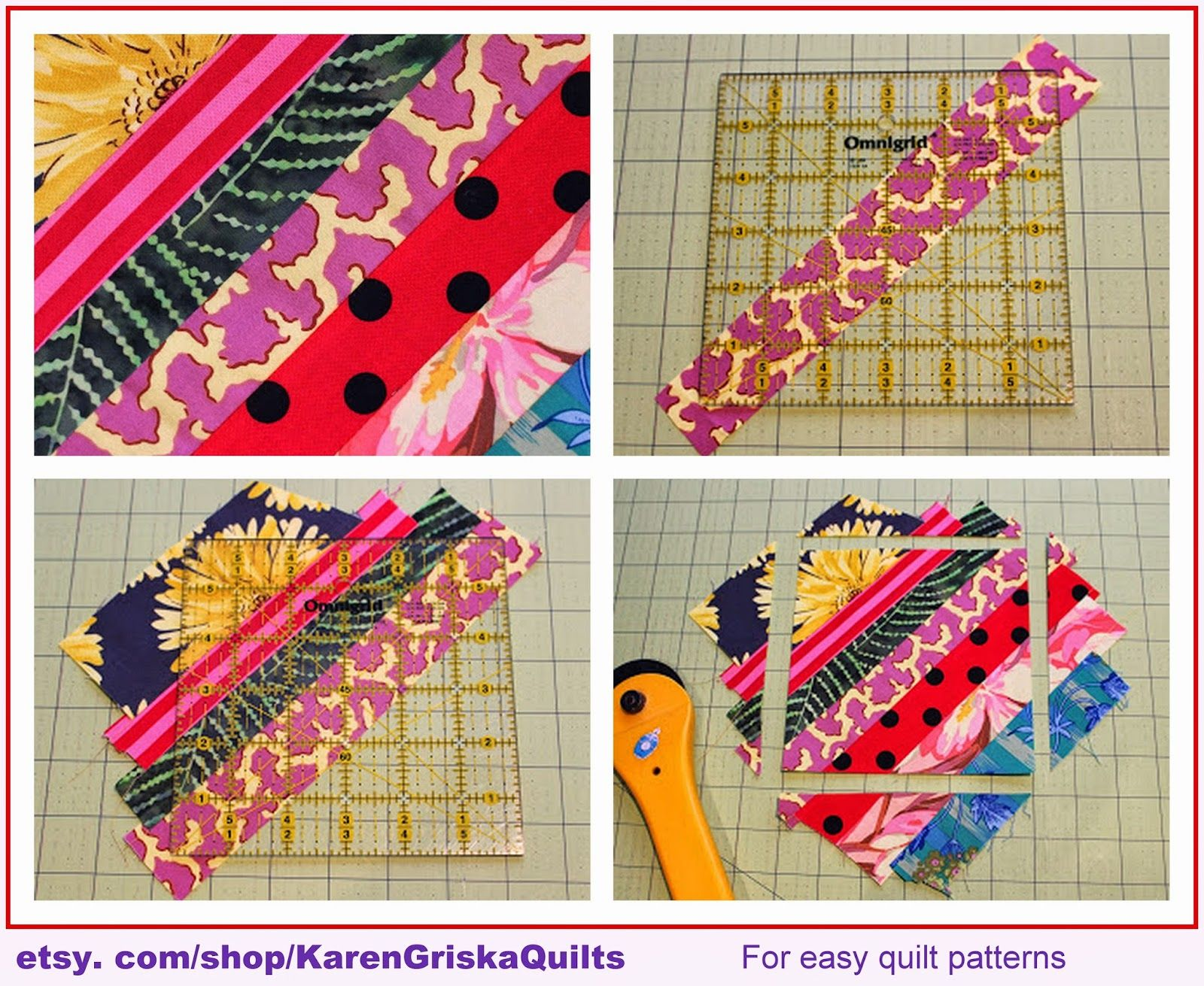 Karen Griska Quilts: String Quilt How-To