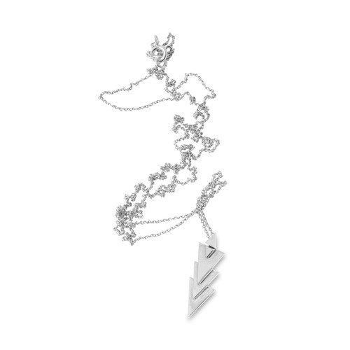 Sterling silver necklace lovingly hand made with a thin silver chain measuring 80cm. Also available with gold details.
