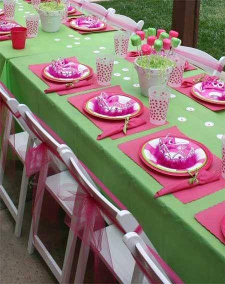 Ideas para cumplea os 1 a o rosa y verde buscar con - Como hacer una manteleria ...