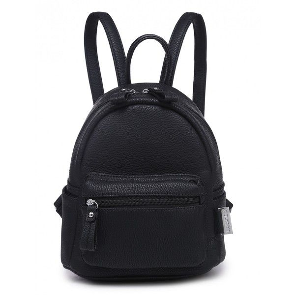 c64e84122392 BLOCK PARTY BLACK MINI BACKPACK ( 30) ❤ liked on Polyvore featuring bags