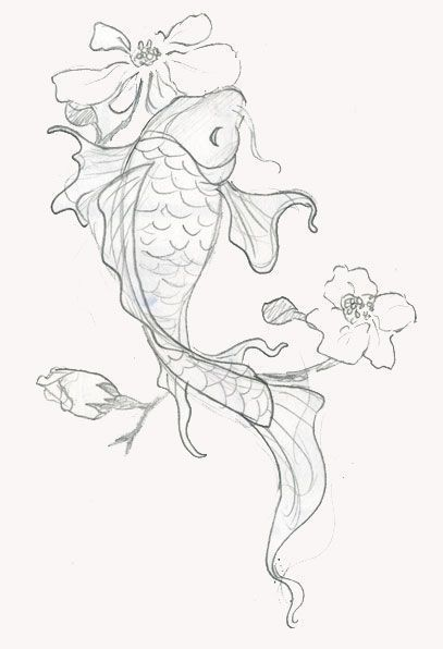 110 Best Japanese Koi Fish Tattoo Designs and Drawings, #Designs #drawings #Fish #Japanese #...
