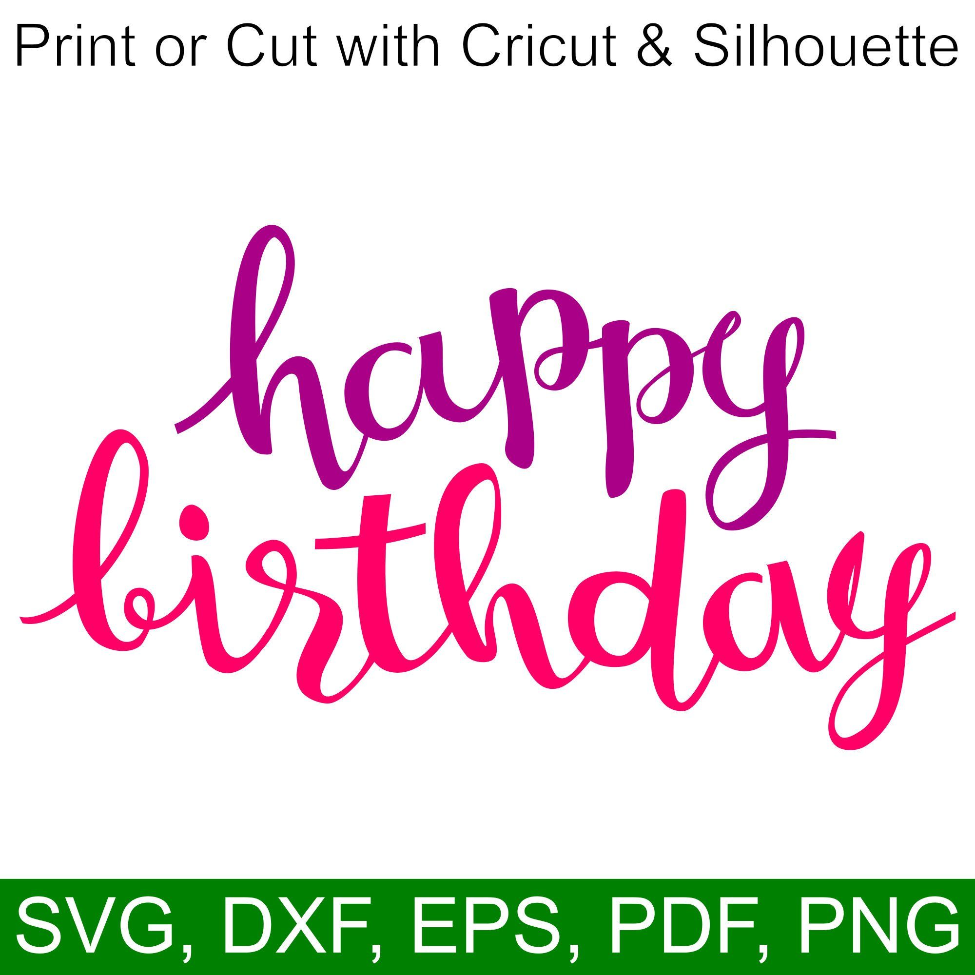 Download Happy Birthday SVG file for Cricut and Silhouette | Happy ...