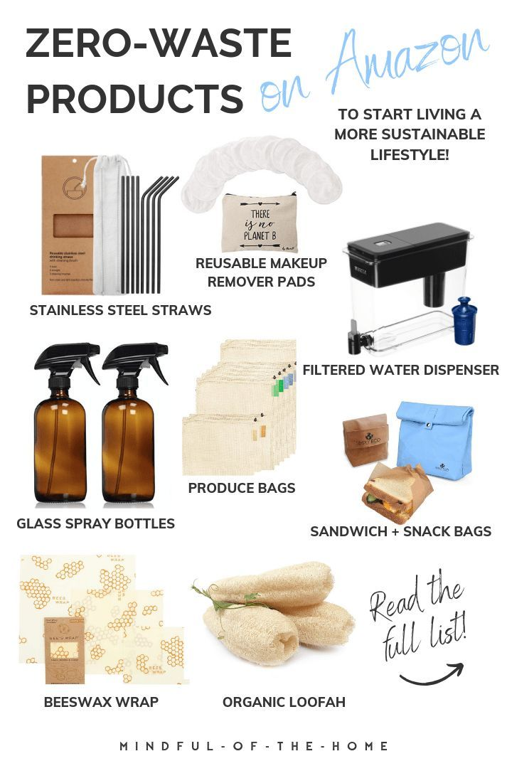 Looking for zero-waste products to start becoming more sustainable? These zero-waste products on Amazon will help get you started! #zerowaste #goingzerowaste #zerowasteliving #sustainableliving #sustainability #ecofriendly #mindfulofthehome