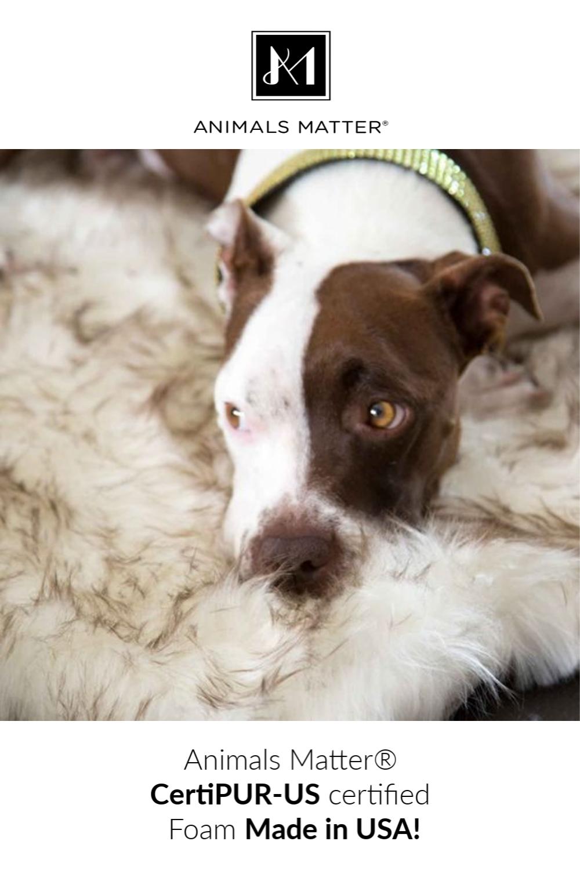 Ortho Faux Fur Shag Rug Bed Animals, Dog training pads