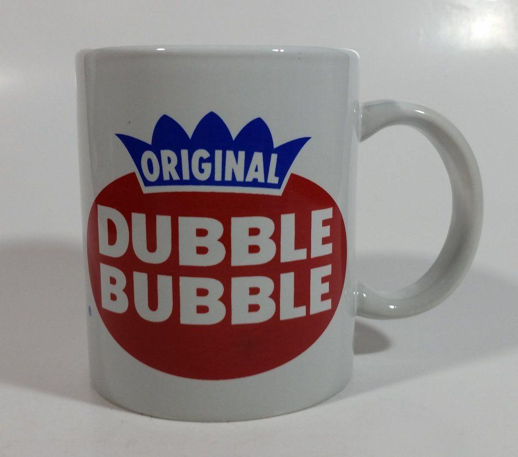 Original Dubble Bubble Chewing Gum Ceramic Coffee Mug   Chewing gum, Mugs, Bubbles