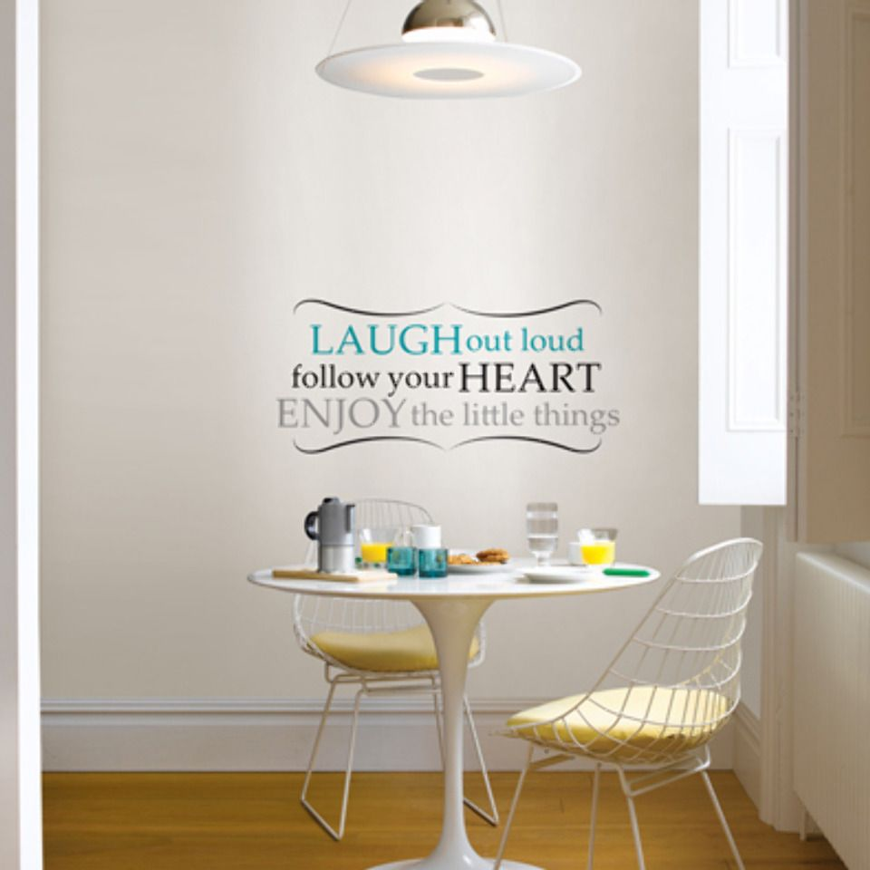 Wall Pops Laugh Out Loud Wall Quote - Beyond the Rack #BTR   Laugh out loud, follow your HEART, ENJOY the little things