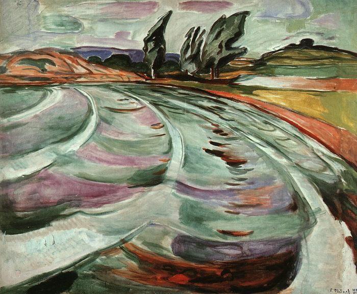 An extraordinary landscape by Edvard Munch.