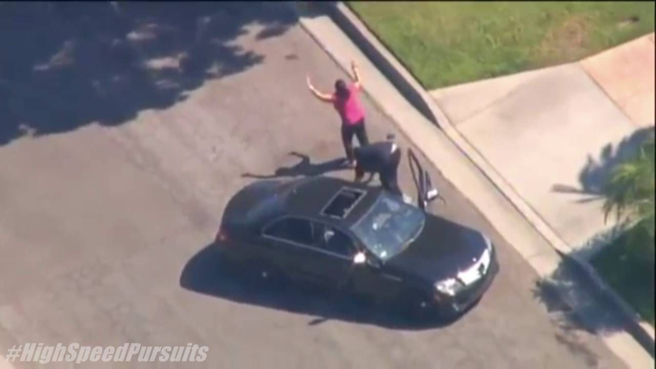 Southern California High Speed Police Chase Black Mercedes ...