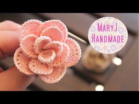 Rosa Alluncinetto Crochet Flower Sub En Youtube Crochet