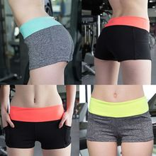 Women Summer Workout High Waist Shorts Fitness Clothing Sports For Run Female Beach Gym Cycling Sport Short Running Jogging(China (Mainland))