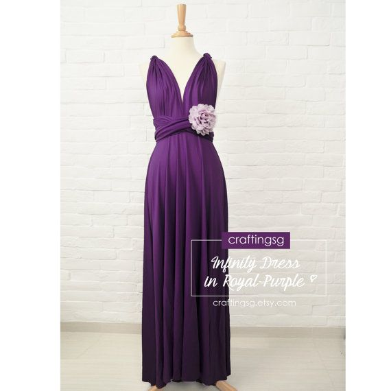 Bridesmaid Dress Royal Purple Maxi Floor Length, Infinity Dress ...