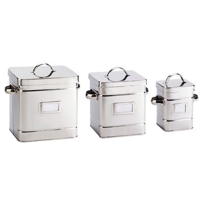 Global Amici 3 Piece Cambridge Stainless Steel Canister Set