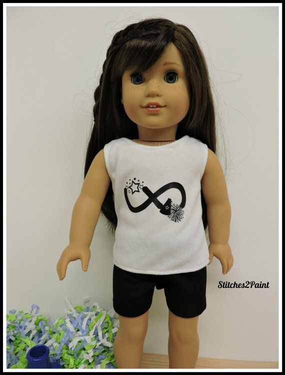 Infinity Cheer Doll Shirt fits American Girl Dolls,  Doll Clothes, 18 inch Dolls, Doll Cheer, Tank T #18inchcheerleaderclothes Infinity Cheer Doll Shirt fits American Girl Dolls,  Doll Clothes, 18 inch Dolls, Doll Cheer, Tank T #18inchcheerleaderclothes Infinity Cheer Doll Shirt fits American Girl Dolls,  Doll Clothes, 18 inch Dolls, Doll Cheer, Tank T #18inchcheerleaderclothes Infinity Cheer Doll Shirt fits American Girl Dolls,  Doll Clothes, 18 inch Dolls, Doll Cheer, Tank T #18inchcheerleaderclothes
