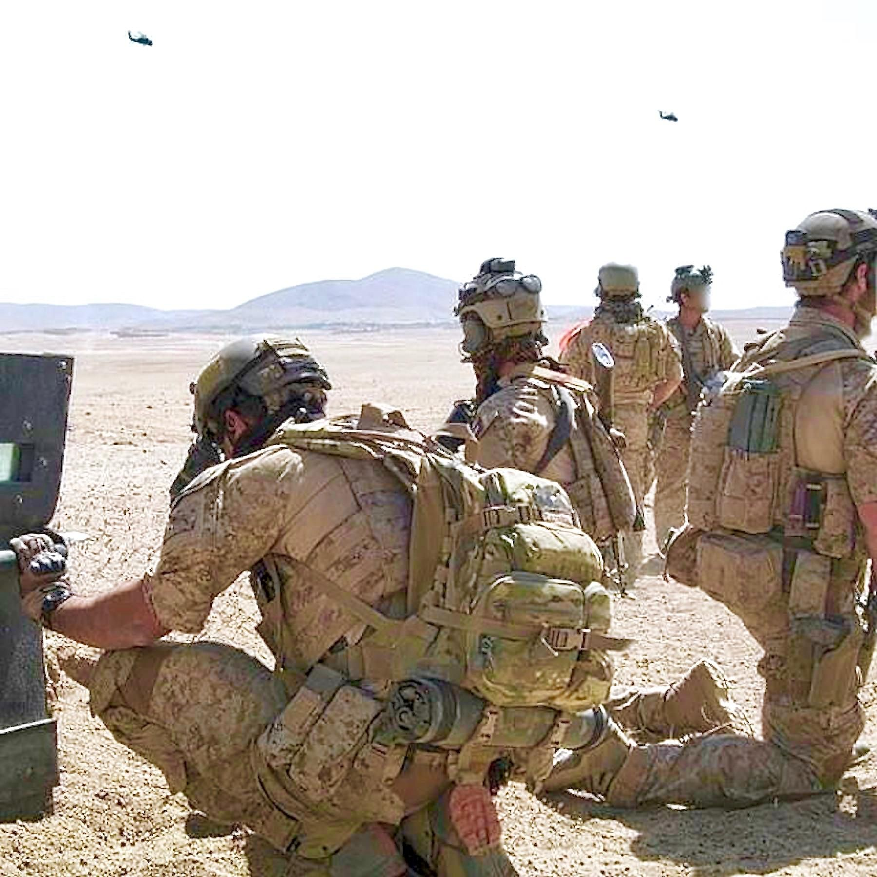 US Special Operations Forces waiting for helo extract