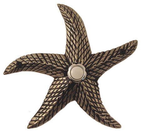 Waterwood Hardware Decorative Starfish Doorbell-Pewter from Cabinet ...