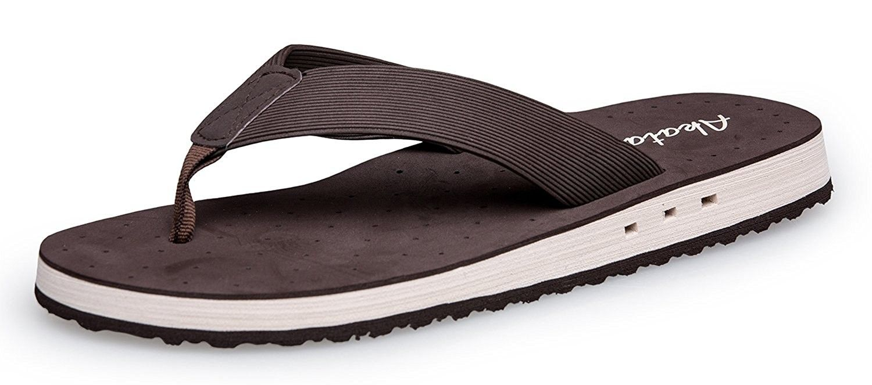 Mens Sport Sandals Lightweihgt Flip-Flops Slippers - Brown - CL17AADKLIG |  Flip flop slippers, Sport sandals, Sandals