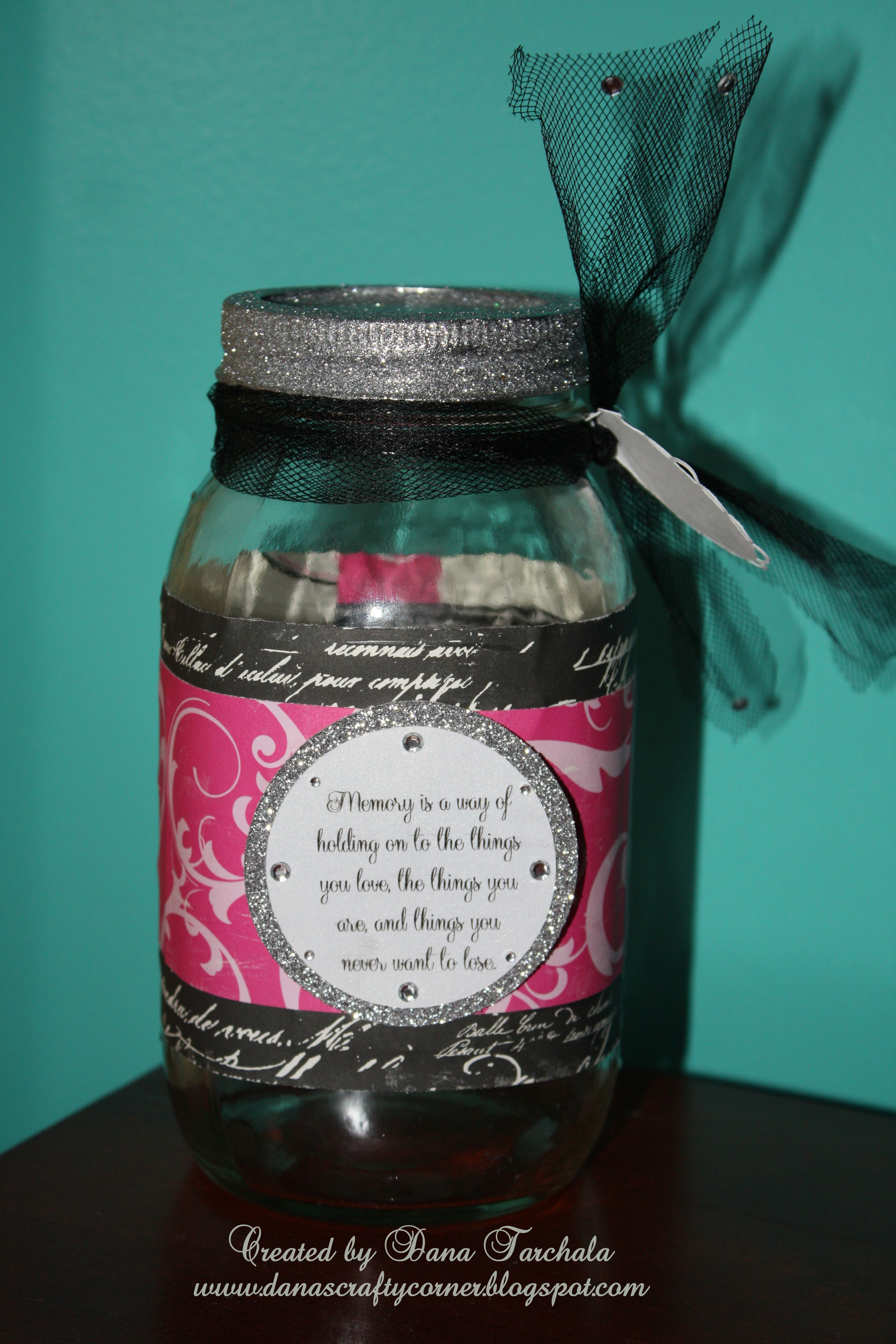 Pin By Mary Anna Brown On Diy Crafts Memory Jar Memory Jars Teacher Gifts