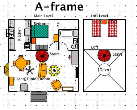 a frame house style a free ez architect floor plan for windows