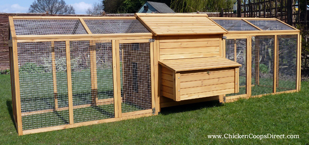 Permanant Chicken Coops The Two Large Lockable Doors On Each Side Of The Run Four Doors In Chicke Chickens Backyard Chicken Diy Building A Chicken Coop