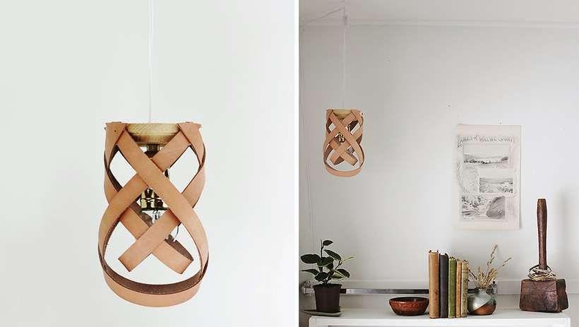 Lampe en cuir DIY Poppytalk