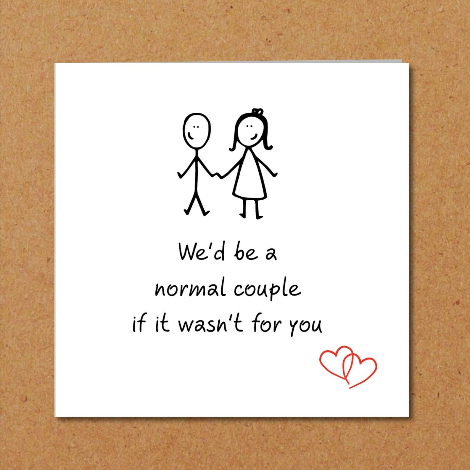 Funny Rude LOVE CARD BIRTHDAY VALENTINE Husband Wife Boyfriend Girlfriend
