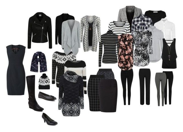 """""""Black and White Capsule"""" by kate-mckinsky ❤ liked on Polyvore featuring George"""