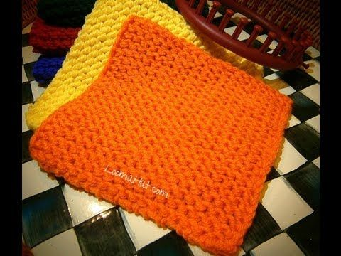 Knit A Square On Any Loom Flat Panel On Round Circular Straight