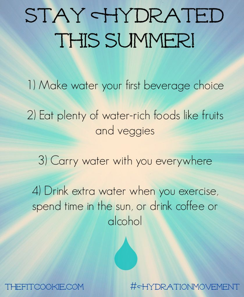 Stay hydrated this summer how i lost weight hydration
