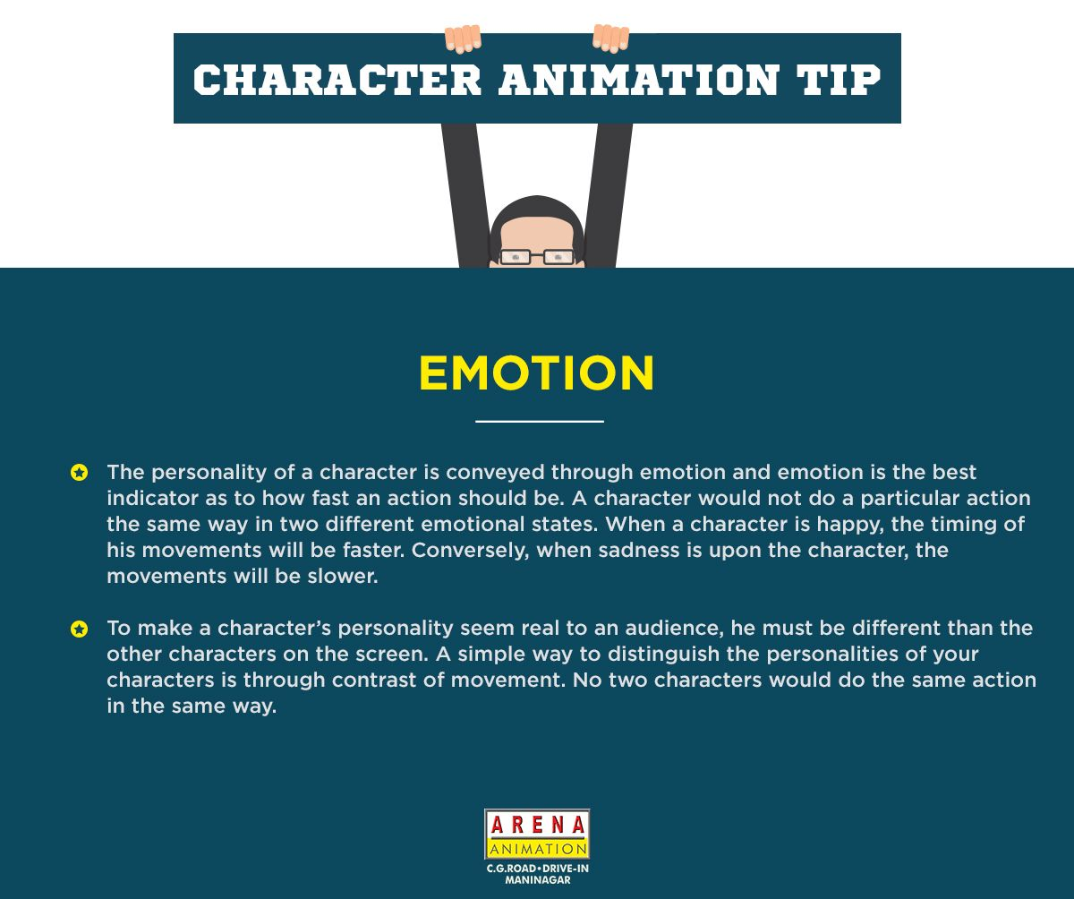 Character Animation Tip Emotion Tipoftheday Tuesdaytip Animationtip Characteranimation Www Are Graphic Design Course Web Design Course Animation Institute