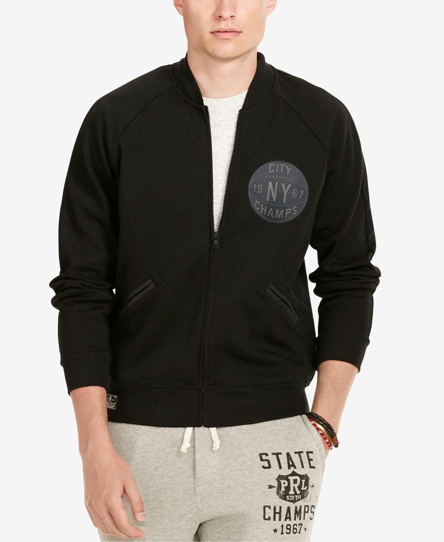 Polo Ralph Lauren Men's Double-Knit Baseball Jacket | Sport ...