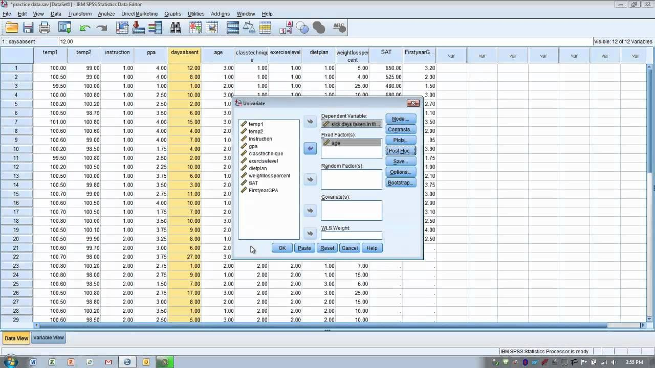 How To Use Spss One Way Anova With Post Hoc Tests Program