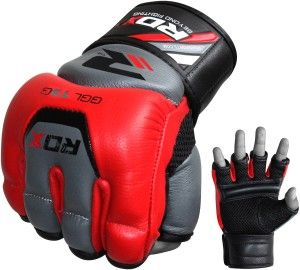 Awesome Red Mma Heavy Bag And Grling Gloves
